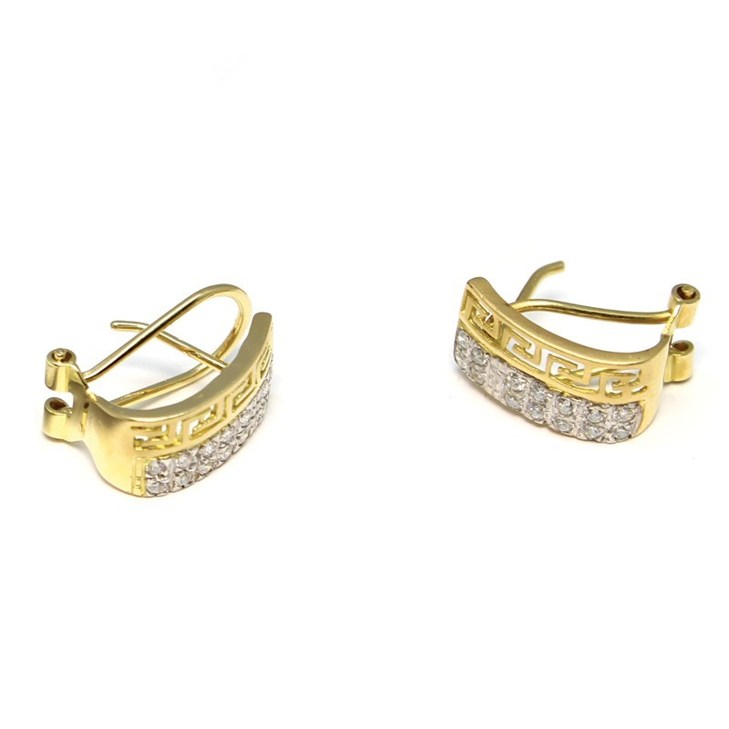 4754e499a86f Pendientes bicolor de oro blanco y amarillo de 18 Kts