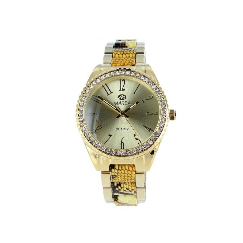 d2bc5a424807 Reloj de señora marca Marea con caja de acero chapado