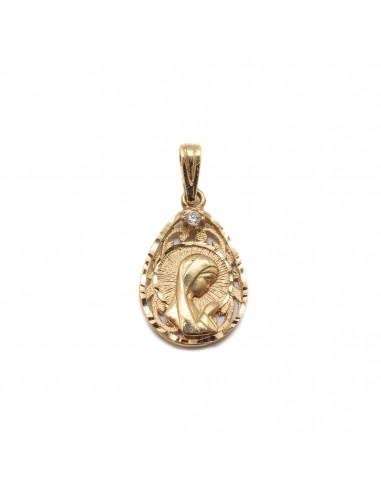 4d12b4054264 Nuevo Medalla calada de la Virgen Niña en oro amarillo de 18Kts para niña  de comunión.