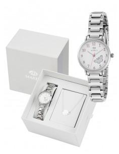 c7727007bb54 Reloj de niña de comunión con pulsera de plata de regalo.