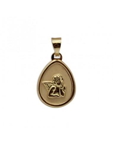 Medalla para bebe en oro amarillo de...